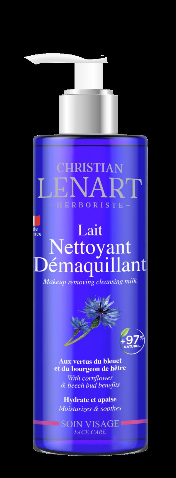 Bouteille Lait nettoyant et démaquillant Christian Lénart