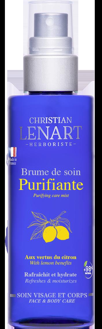 Bouteille Brume de soin Purifiante citron Christian Lénart