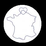 France avec un cœur sur la région Hauts-de-France