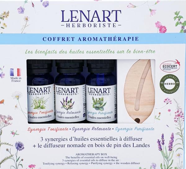 Coffret Aromathérapie composé de 3 Synergies Lénart Herboriste