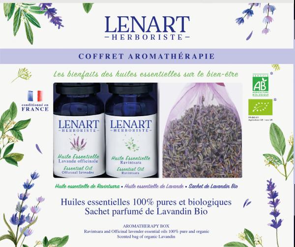 Coffret Aromathérapie composé de 2 Huiles essentielles Lénart Herboriste