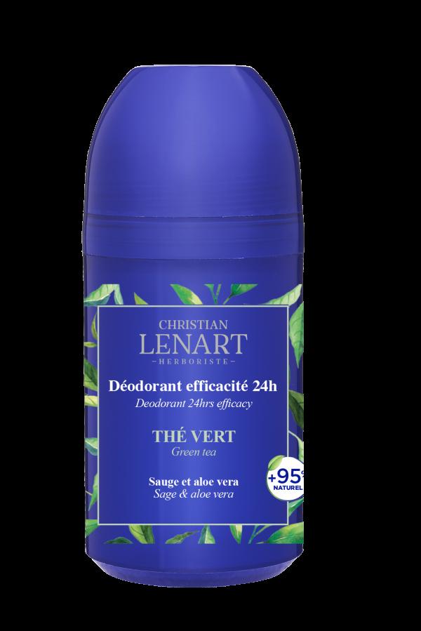 Déodorant efficacité 24h Thé vert Christian Lénart