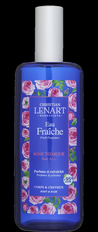 Bouteille Eau Fraîche Rose tonique Christian Lénart