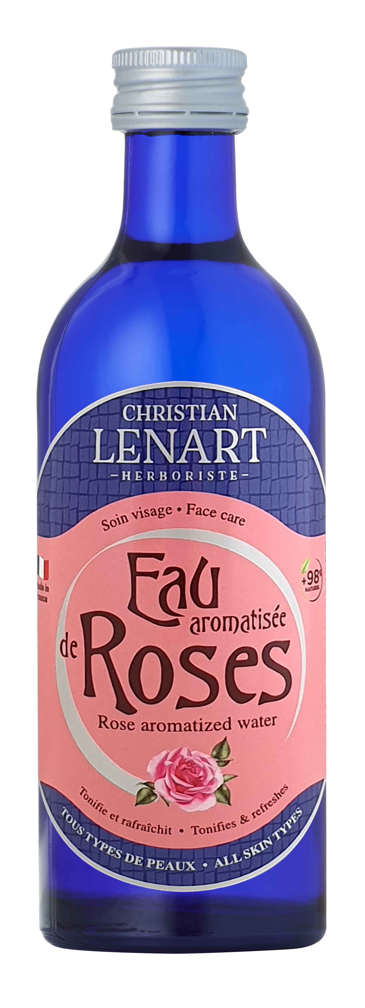 Bouteille Eau aromatisée de Rose Christian Lénart