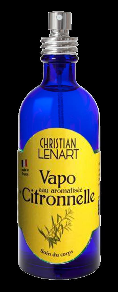 Bouteille Vapo Eau aromatisée Citronnelle 100ml Christian Lénart