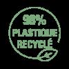 Pictogramme 98% plastique recyclé