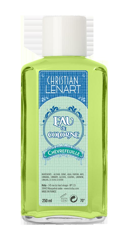 Bouteille Eau de Cologne Chèvrefeuille Christian Lénart