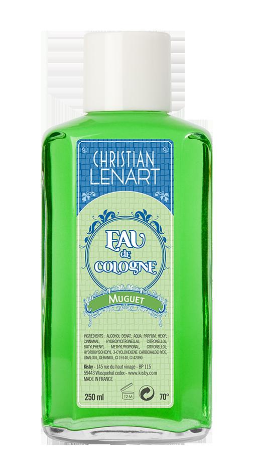 Bouteille Eau de Cologne Muguet Christian Lénart