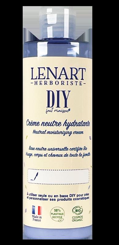 Bouteille Crème neutre hydratante 220ml DIY Lénart Herboriste