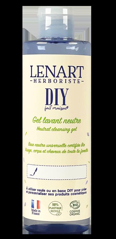 Bouteille Gel lavant neutre 220ml DIY Lénart Herboriste