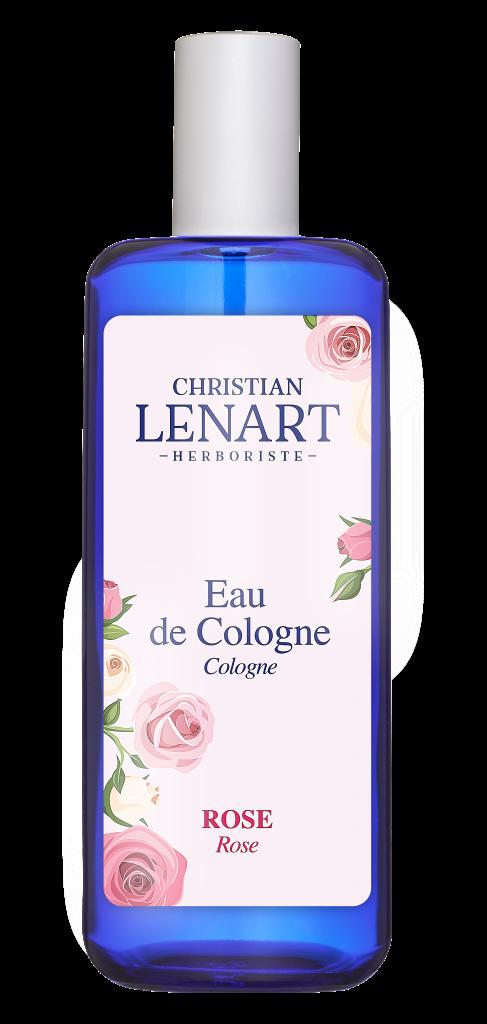 Bouteille Eau de Cologne Rose Christian Lénart