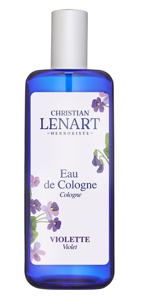 Bouteille Eau de Cologne Violette Christian Lénart