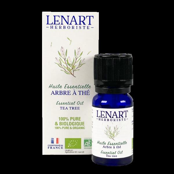 Flacon et étuis Huile essentielle de Arbre à thé Lénart Herboriste